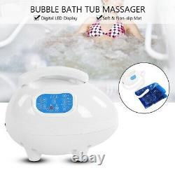 Bath Bubble Jet Spa Mat Bubble Jets Machine Tub Massage Mat Waterproof + Remote