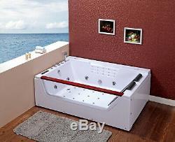 Bath Tub Hydro Massage 180x120 Spa Whirpool Dual Disinfection Rectangular Frame