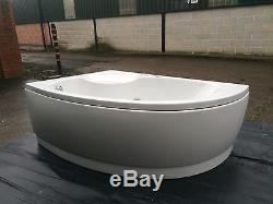 Bathstore ex display Biscay whirlpool bath with front panel and pop-up waste