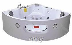 Bathtub Hydromassage Corner Jacuzzi Massage Acrylic Two-Seater Bathtub