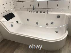 Bellview Acuario 170mm x 80mm Back to Wall Whirlpool Bathtub with 4 Jets
