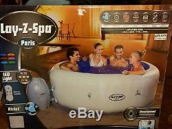 Bestway Lay-z-spa Paris Hot Tub Led Lights Lazy Spa Jacuzzi