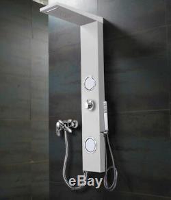 Bianco Pannello doccia cascata Collegamento Miscelatore idromassaggio in allu