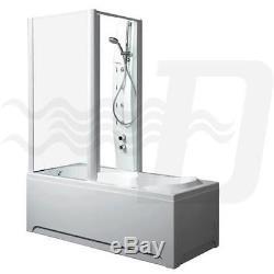 Box doccia combinato vasca e idrocabina sx Sinai 170/70 cm 220h