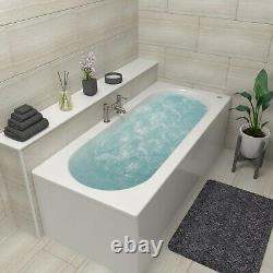 Burford Double Ended Bath with 14 Jet Whirlpool System 1700 x 750mm