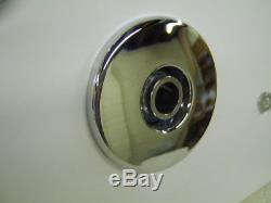 CUBE Whirlpool Bath 8+8 Jet Chrome 1800 x 800 Bath
