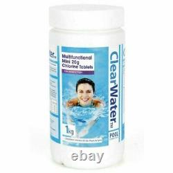 Chlorine Tablets for Hot Tub Swimming Pool Lay Z Spa Jacuzzi 1kg tubs, 50 x 20g