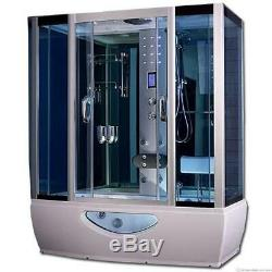 Combined whirlpool jacuzzi spa bath steam enclosure shower taps cabin 1500 x 850