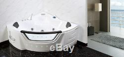 Corner 20Jet Whirlpool Bath Shower Air Spa Jacuzzi Massage 1500mm 2 person tub