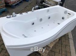 Corner Right Hand Whirlpool Acrylic Massage Spa Shower Bath 1700mm x 740mm