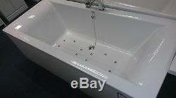 Cube 1700 x750 Bath with Bespoke'INVICTA' 12 Jet Airspa System