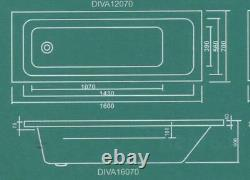 DIVA 1600 x 700 Bath with 8 Jet Whirlpool System