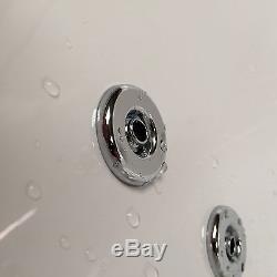 Decadence 1700 x 800mm 12 Jet Whirlpool / Jacuzzi Bath & LED Light