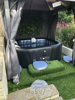 Delight Alpine 6 Person Square Inflatable Hot Tub Spa Jacuzzi