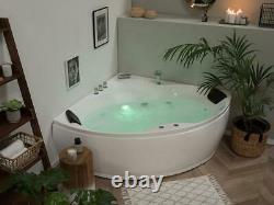 Designer Whirlpool Corner Bathtub With Massage+LED Hot Tub Spa Luxury Bath