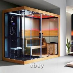 Detox sauna room with steam