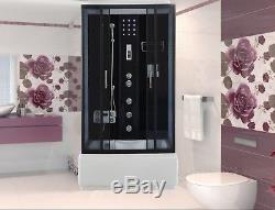ETNA Imperial Shower Cabin With Hydro Massage 120x80cm