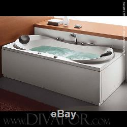 EX DISPLAY Di Vapor Varda Whirlpool Bath Water Jets & Air Jets 180cm x 85cm