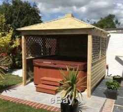 Gazebo Wooden Hot Tub Cover Jacuzzi Shelter Spa Cover We Assemble For Free £900