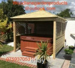 Gazebo Wooden Hot Tub Cover Jacuzzi Shelter Spa Cover we install for free £950