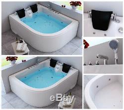 HOME DELUXE Whirlpool Eckbadewanne Badewanne Wanne Pool Thermostat Spa Acryl