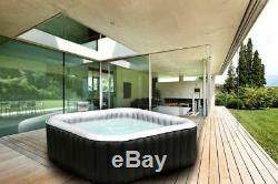 Heated Inflatable Hot Tub Jacuzzi Spa Square Outdoor Portable 4 Person Seater