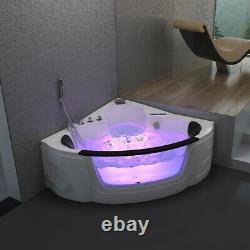 Home Deluxe Whirlpool Corner Bath Bathtub Tub Pool Thermostat Spa Heat
