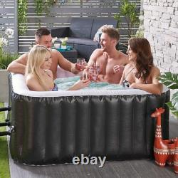 Hot Tub Inflatable Jacuzzi Outdoor Spa Set Jet Bubble Massage 4 Person Garden Uk