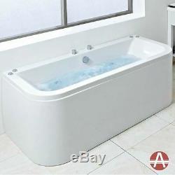 Houston Designer Luxury Bow Fronted Bath inc Panel, Whirlpool or Airpool