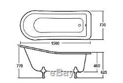 Hudson Reed Brockley Freestanding Bath Corbel Leg Set (1500mm)