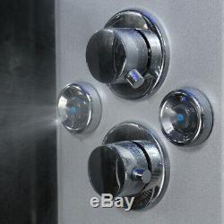 Insignia Steam Shower/Bath Cabin 1700x900mm LH Quadrant Body Jets Audio Chrome