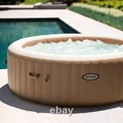 Intex 28428 PureSpa 6 Person Hot Tub Bubble Jacuzzi Deluxe Inflatable Spa Jets