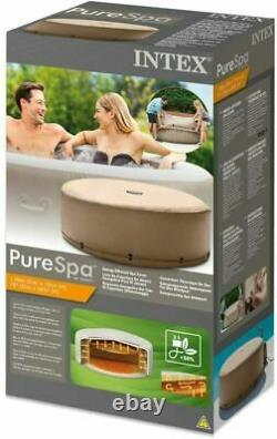 Intex 28523 PureSpa Hot Tub Energy Efficient Spa Cover For 4 Person Jacuzzi Jet
