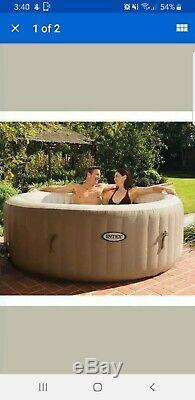 Intex PureSpa 4 Person Portable Spa Jacuzzi Hot Tub