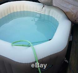 Intex PureSpa 4 Person Portable Spa Jacuzzi Hot Tub Octagonal
