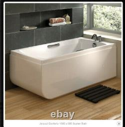Jacuzzi Conforto 1685 X 685 Soaker Bath + Glass Screen + Side Panel