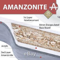 Kansas Maxi White Rectangular Bath 4 Sizes Standard, Whirlpool or Airpool