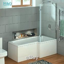 L Shaped Right Hand Whirlpool Corner Bath Shower Spa Jacuzzi Rectangle  Bathtub