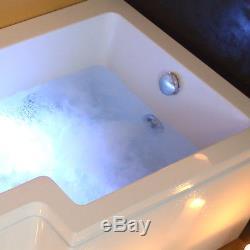 L Shaped Whirlpool Shower Bath Jacuzzis Bathtub With Panel Screen Model Vienna01