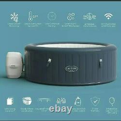 Lay Z Spa 2021 Milan 6 Person Smart Hot Tub Lazy Spa Jacuzzi FREE UPS