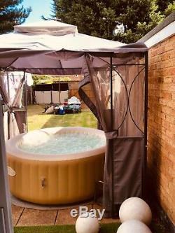 Lay Z Spa Palm Springs Airjet Inflatable Portable Hot Tub Jacuzzi 4-6 Person