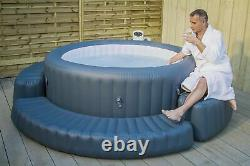 Lay-Z Spa Spa Hot Tub Inflatable Surround Round Jacuzzi Accessories Outdoor Grey