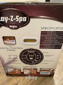 Lay-Z-Spa VEGAS 4-6 Person Inflatable Hot Tub Jacuzzi Lazy Spa BRAND NEW