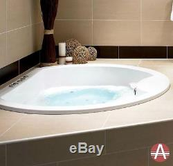 Lincoln Round Inset Designer Luxury Bath Standard, Whirlpool, Airpool Option