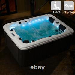 Luxury 3-4 Persons Outdoor Hot Spa Whirlpool Jacuzzi 51 Massage Jets Hot Tub
