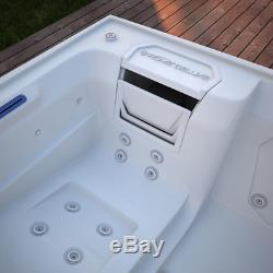 Luxury 3 Person Hot Tub Spa Jacuzzi Outdoor 24 Jets Whirlpool Bathtub Controller