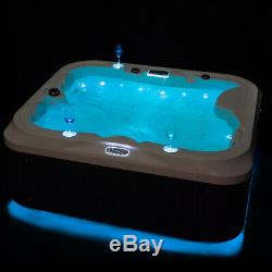Luxury Hot Tub Spa Jacuzzis Outdoor Whirlpool Bath With 21 Jets 2Seats+1Lounger