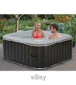 Luxury Square 4 person inflatable Aqua spa Hot Tub Garden 780L Bubble Jacuzzi