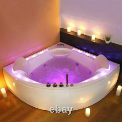 Luxury Whirlpool Bath hot Tub Massage SPA Jacuzzi Jets 2 Person chrome elegance