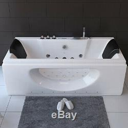 Luxury Whirlpool Rectangle Bath Spa Jacuzzis Straight 2 Person Bathtub 1700mm